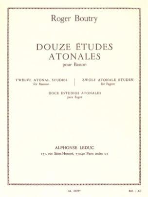12 Etudes Atonales -Basson Roger Boutry Partition laflutedepan