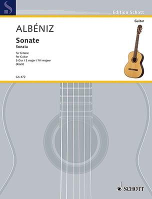 Sonate E-Dur - Gitarre - Mateo Albéniz - Partition - laflutedepan.com