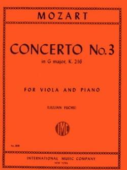 Concerto n° 3 in G major KV 216 MOZART Partition Alto - laflutedepan