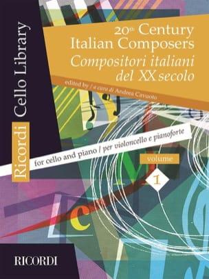 20th Century Italian Composers, Volume 1 violoncelle et piano laflutedepan
