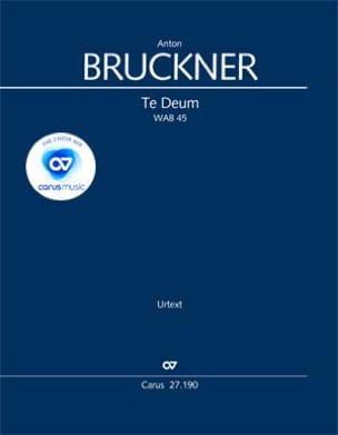 Te Deum, Wab 45 - Conducteur BRUCKNER Partition laflutedepan