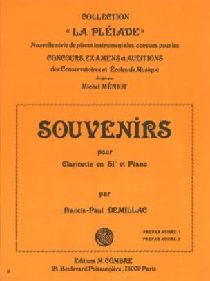 Souvenirs - Francis-Paul Demillac - Partition - laflutedepan.com