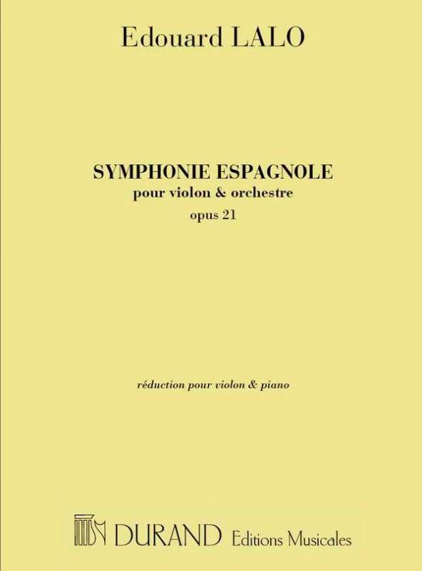 Symphonie espagnole op. 21 - LALO - Partition - laflutedepan.com