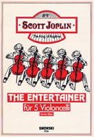 The Entertainer für 5 Violoncelli JOPLIN Partition laflutedepan
