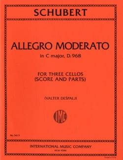 Allegro Moderato in C major D.968 - 3 Cellos SCHUBERT laflutedepan