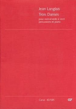 Trois danses - Conducteur Jean Langlais Partition laflutedepan