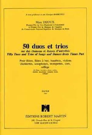 50 Duos et Trios Marc Dijoux Partition laflutedepan