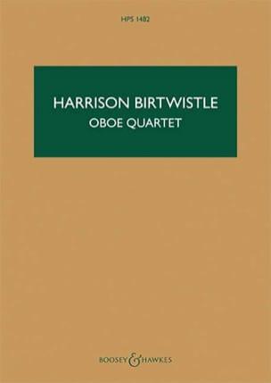 Oboe Quartet Harrison Birtwistle Partition Quatuors - laflutedepan