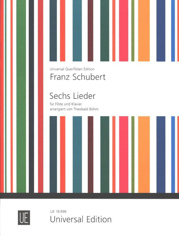 6 Lieder - Flöte Klavier - SCHUBERT - Partition - laflutedepan.com