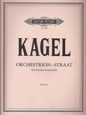 Orchestrion-Straat - Partitur - Mauricio Kagel - laflutedepan.com