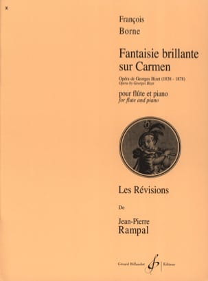 Fantaisie brillante sur Carmen François Borne Partition laflutedepan