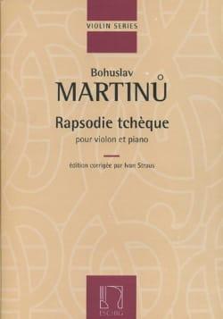 Bohuslav Martinu - Czech Rapsodie - Partition - di-arezzo.co.uk
