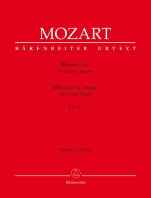 Missa in C-Dur KV 167 Trinitatis - Partitur MOZART laflutedepan
