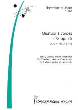Quatuor à cordes N° 2 opus 35 Florentine Mulsant laflutedepan