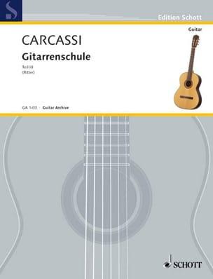 Gitarren Schule - Bd. 3 Matteo Carcassi Partition laflutedepan