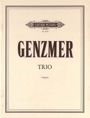 Trio Harald Genzmer Partition Basson - laflutedepan
