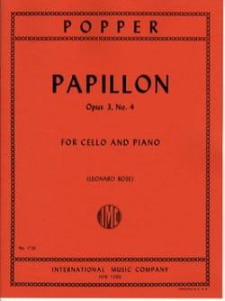 Papillon op. 3 n° 4 David Popper Partition Violoncelle - laflutedepan