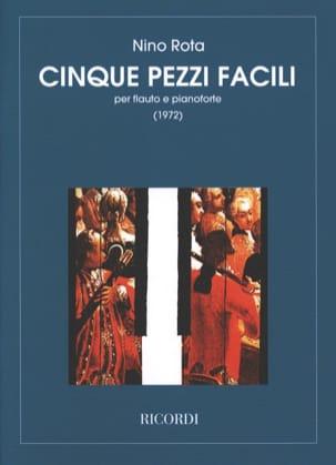 5 Pezzi facili - Flauto pianoforte ROTA Partition laflutedepan