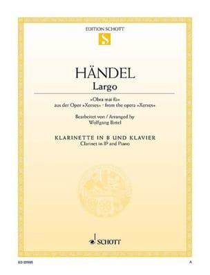 Largo HAENDEL Partition Clarinette - laflutedepan