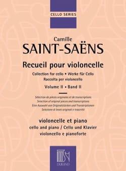 Recueil pour violoncelle Vol. 2 SAINT-SAËNS Partition laflutedepan