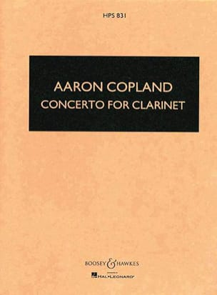 Concerto for clarinet - Score COPLAND Partition laflutedepan