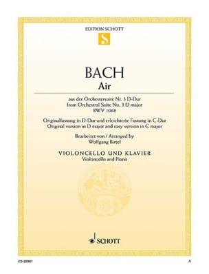 Air de la Suite d'orchestre n° 3 BWV 1068 BACH Partition laflutedepan