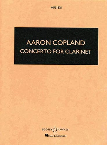 Concerto for clarinet - Score - COPLAND - Partition - laflutedepan.com