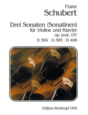 Drei Sonaten Sonatinen SCHUBERT Partition Violon - laflutedepan