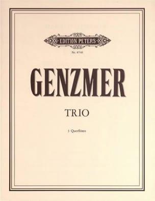 Trio - 3 Flöten Harald Genzmer Partition laflutedepan