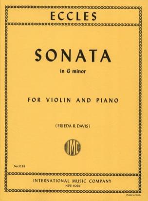 Sonate en sol mineur Henry Eccles Partition Violon - laflutedepan
