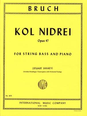 Kol Nidrei op. 47 - String bass BRUCH Partition laflutedepan
