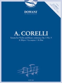 CORELLI - Sonata in the Maj. Op. 5 N ° 9 - Partition - di-arezzo.co.uk
