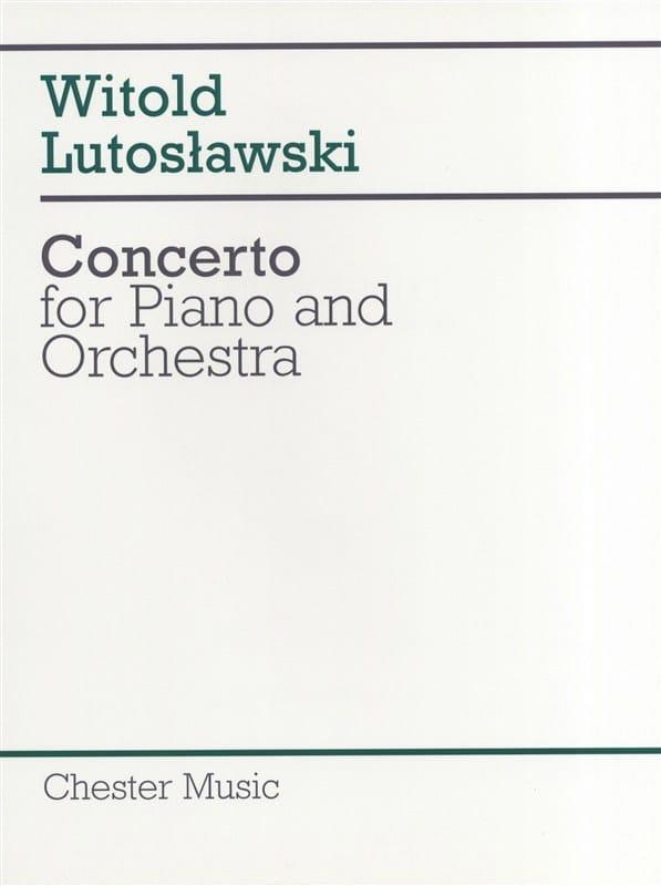Concerto for piano and orchestra - Score - laflutedepan.com