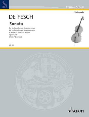 Sonata C-Dur, op. 13 n° 2 Willem de Fesch Partition laflutedepan