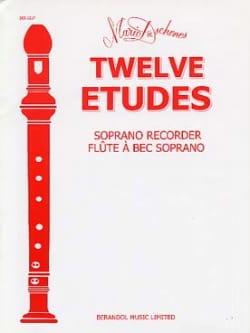 12 Etudes - Flûte à bec Soprano Mario Duschenes Partition laflutedepan