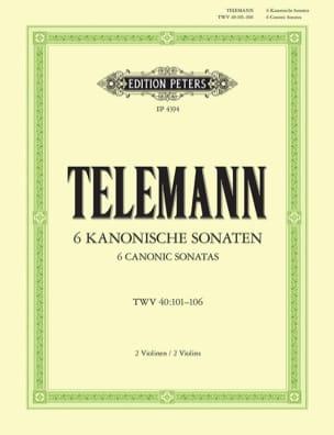 6 kanonische Sonaten TELEMANN Partition Violon - laflutedepan