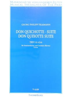 Don Quichotte, Suite - Conducteur TELEMANN Partition laflutedepan