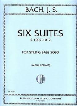 6 Suites BWV 1007-1012 - String bass BACH Partition laflutedepan
