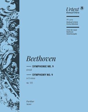 Symphonie n° 9 BEETHOVEN Partition Grand format - laflutedepan