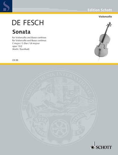 Sonata C-Dur, op. 13 n° 2 - Willem de Fesch - laflutedepan.com