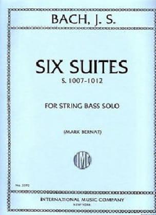 6 Suites BWV 1007-1012 - String bass - BACH - laflutedepan.com