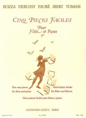 Cinq pièces faciles - Flûte et piano Partition laflutedepan