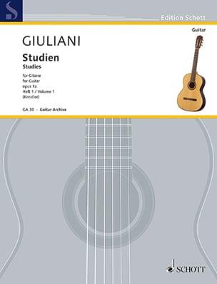 Etudes Opus 1A - Volume 1 Mauro Giuliani Partition laflutedepan