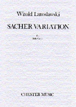 Sacher Variation LUTOSLAWSKI Partition Violoncelle - laflutedepan
