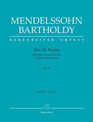 Psaume 42 MENDELSSOHN Partition Grand format - laflutedepan