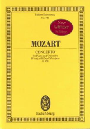 Klavier-Konzert B-Dur- Kv 450 - MOZART - Partition - laflutedepan.com