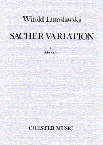 Sacher Variation - LUTOSLAWSKI - Partition - laflutedepan.com