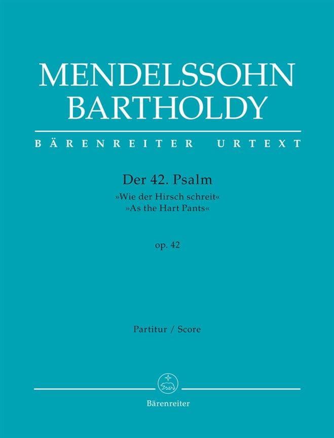 Psaume 42 - MENDELSSOHN - Partition - Grand format - laflutedepan.com