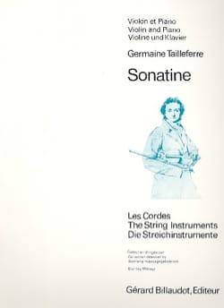Sonatine Germaine Tailleferre Partition Violon - laflutedepan