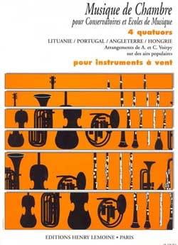 4 Quatuors pour instr. à vent Voirpy A. / Voirpy C. laflutedepan